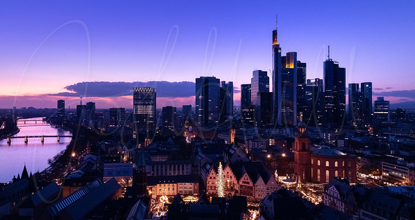 Blue Hour across Frankfurt