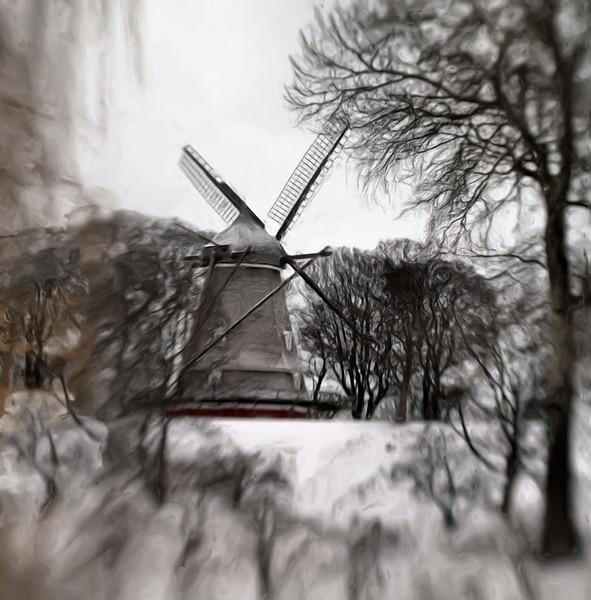 Last Standing Mill.<br /> The last remaining wind mill at Kastellet, Copenhagen.
