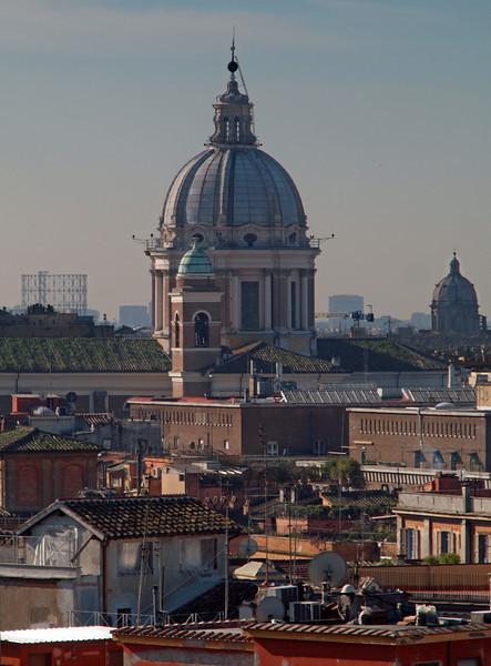 Domes.<br /> Vista from Villa Borghese.