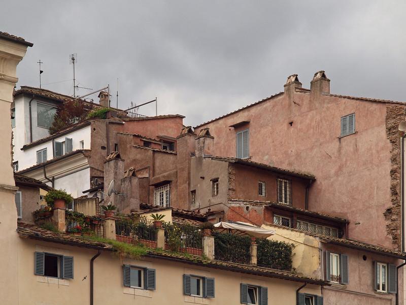 Mountain Village.<br /> Roof housing at Campo di fiori.