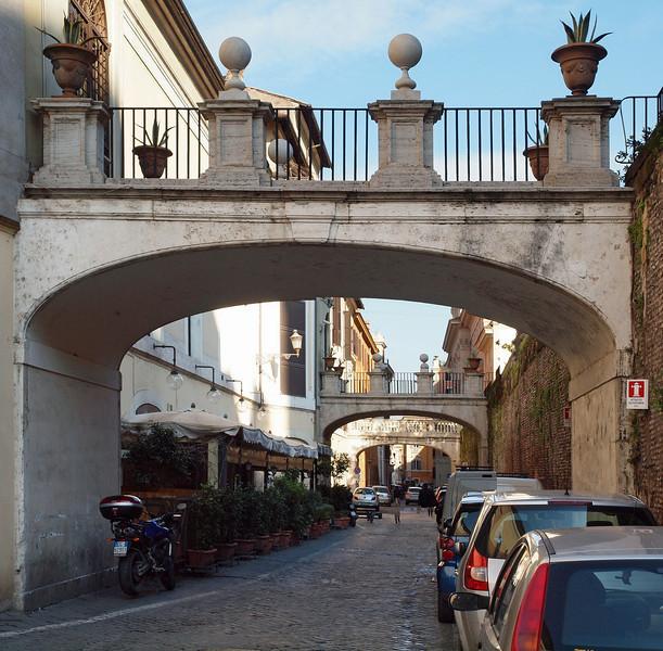 Balcony Bridges.<br /> Via della Pilotta.