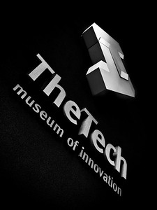 Taken at the front entrance of the Tech Museum in downtown San Jose.  I convert the picture to Black and White in PS.