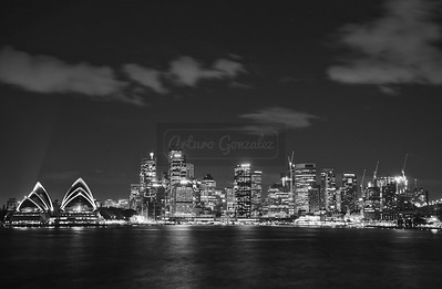 Downtown Sydney in B&W