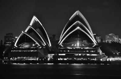 Monochromatic Sydney Opera House