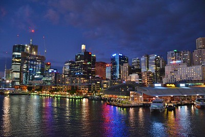 Darling Harbour in Sydney.