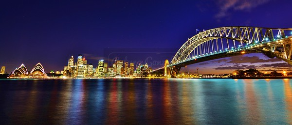 Sydney at night.