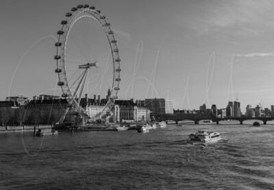 Black and White over the River Thames