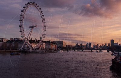 Golden Hour over the River Thames