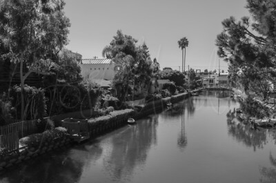 Venice Canals (LA) in Black and White