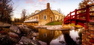 The Little Red Footbridge - Perth, Ontario