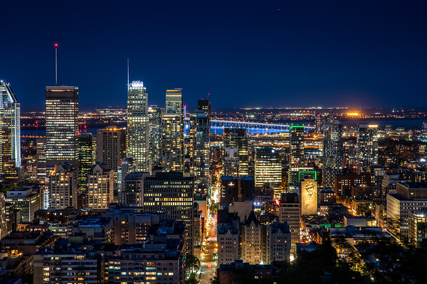 Downtown Montreal by night,