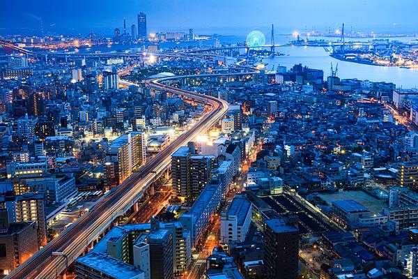 Blue Moment, Osaka Harbor