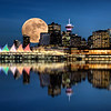 Vancouver Night Full Moon