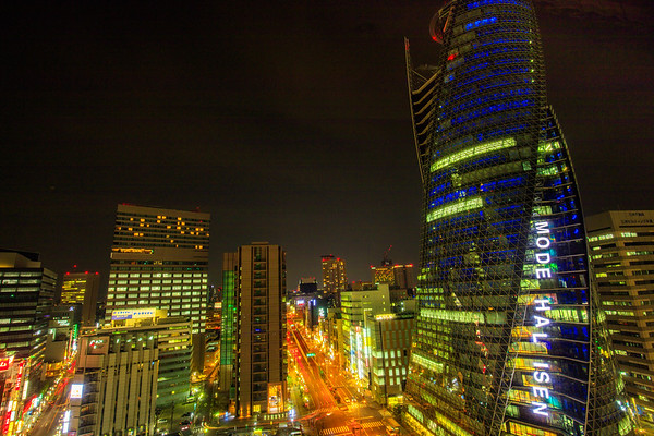 Nagoya at night, Japan
