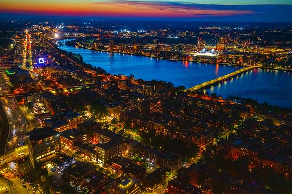Blue Dusk, Charles River, Boston