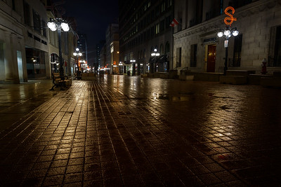 Sparks Street at Night in the Rain