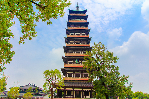 Qiling Tower, Daming Temple,  Yangzhou, China