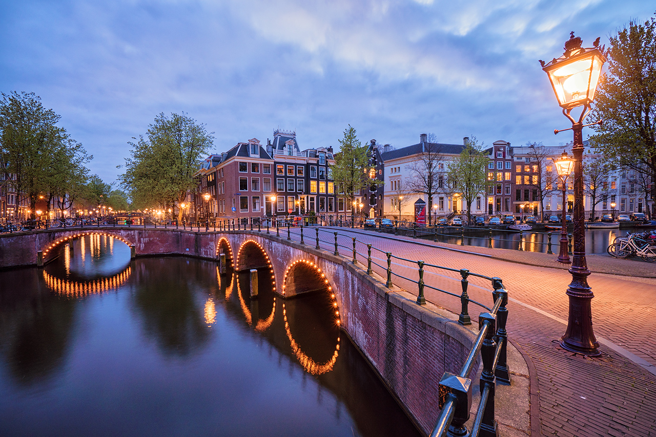 Amsterdam, Netherlands, long exposure, HDR, sunset, canals