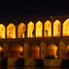 Iran, Esfahan - Khaju Bridge is a favorite hangout