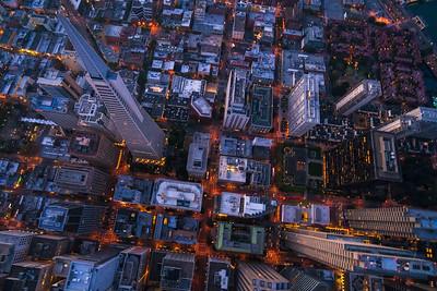 A bit of vertigo above downtown San Francisco, California.