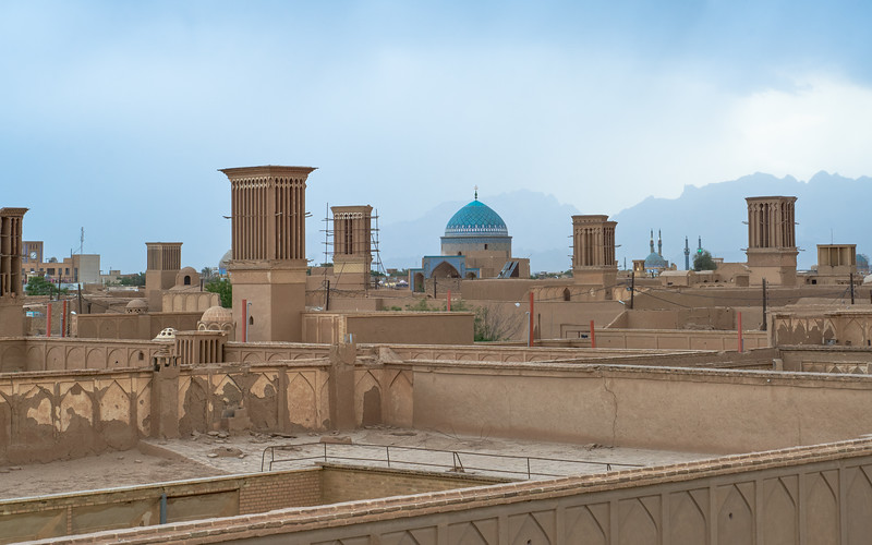 Iran, Yazd - View from Art House café