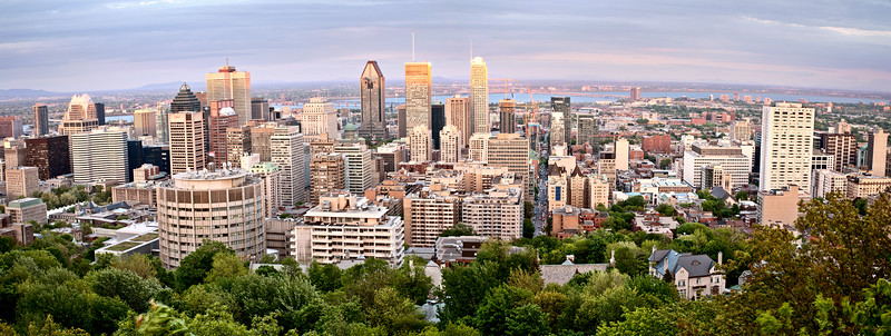 Panoramic Photo Montreal city