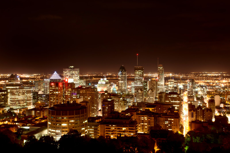 Panoramic Photo Montreal city night Photo
