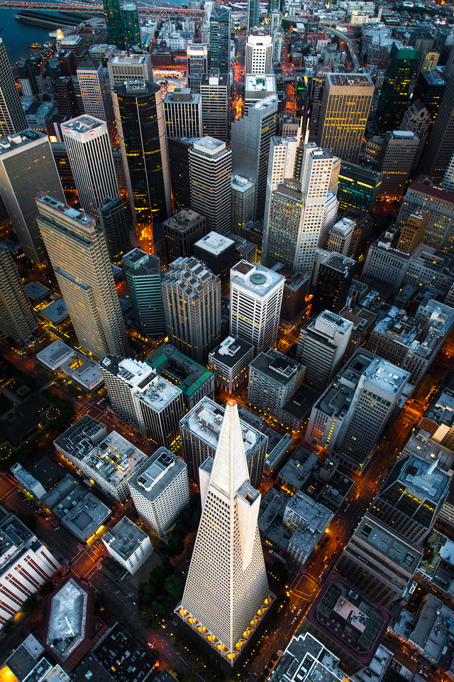 The Transamerica Pyramid in downtown San Francisco, California.