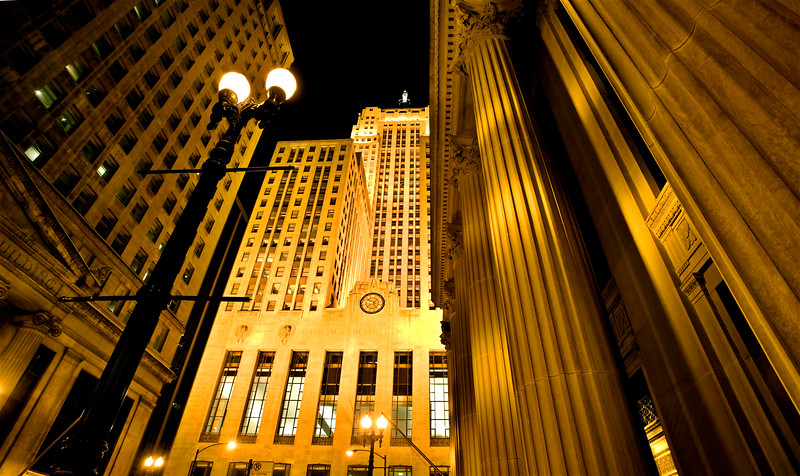 Chicago Downtown City  Night Photography