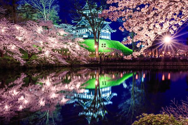 Takada Cherry Blossom Festival, Takada Castle, Niigata, Japan
