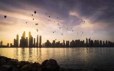 Sunrise in Dubai Marina