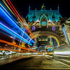 Dramatic Light Trails on Tower Bridge