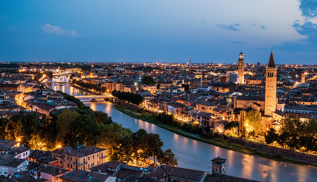 Verona, sunset, hdr, long exposure, city, italy, water, bridge, sky, bluehour, chuch