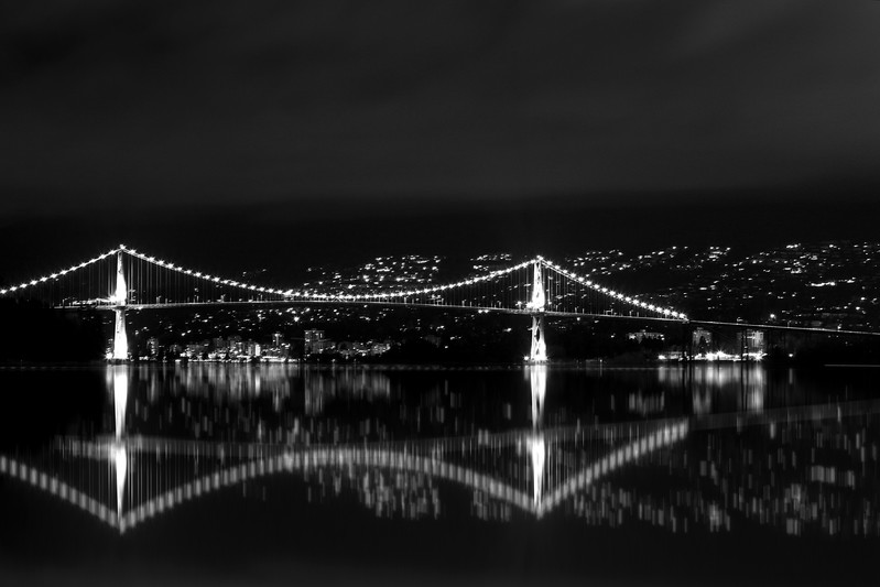 Lions Gate Bridge Night Photography