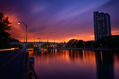 Dramatic Skies over the Bank Street Bridge