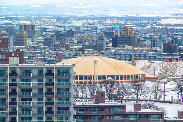 Sapporo city overview in February