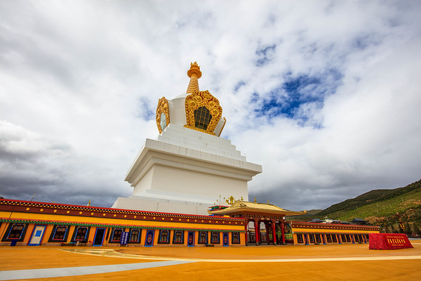 The Big White Stupa of Tibetan Buddhist