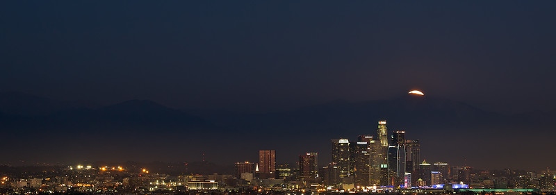moonrise over Los Angeles