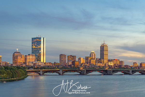 Boston Skyline Blue Hour