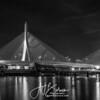 Boston Zakim Bridge Black & White