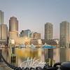 Boston Fan Pier Park Skyline Sunrise