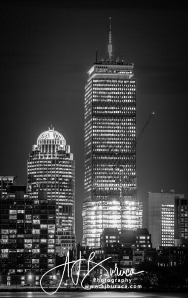 Boston Prudential Tower Black & White