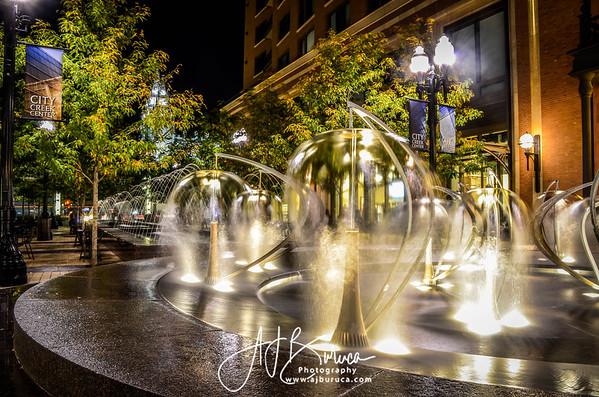 Downtown Salt Lake Water Fountains