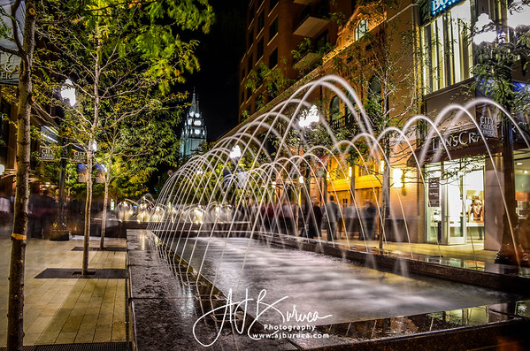 Downtown Salt Lake City Creek Fountains