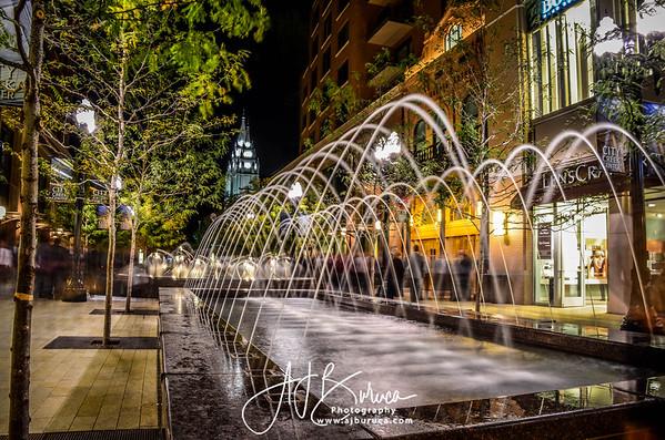 Downtown Salt Lake City Creek Fountains