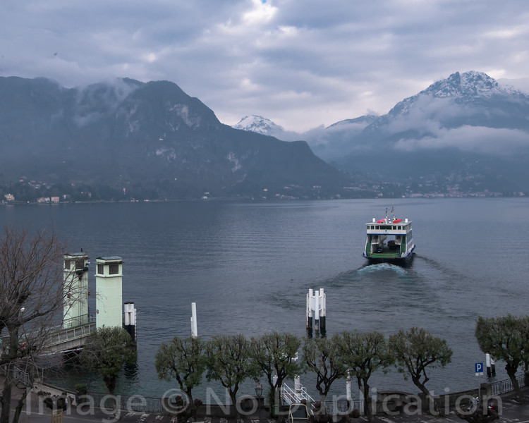 Cloudy Como - February 2014<br /> Bellagio, Italy<br /> (4x50<br /> Best Reproduction - No Larger Than 11x14