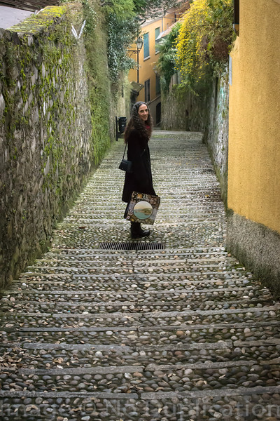 Downhill Shopper - February 2014<br /> Bellagio, Italy<br /> (2x3)<br /> Best Reproduction - No Larger Than 12x18