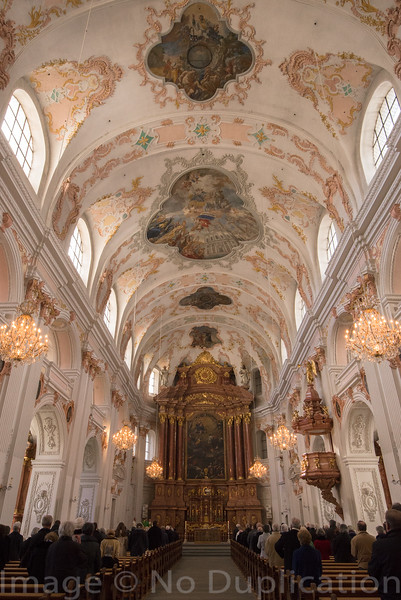 Jesuit Interior - February 2014<br /> Luzern, Switzerland<br /> (2x3)<br /> Best Reproduction - No Larger Than 12x18
