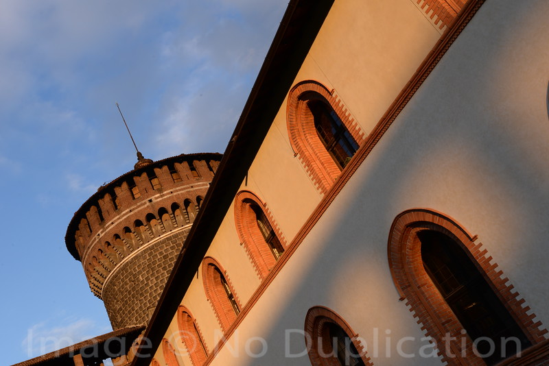 Castle Sunset - March 2014<br /> Milan, Italy<br /> (2x3)<br /> Best Reproduction - No Larger Than 12x18