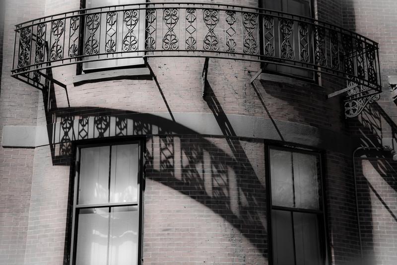 Shadow on Building at Beacon Hill, Boston,, by David Everett